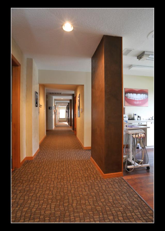 Hallway to dental exam rooms