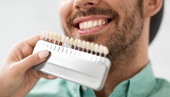 Man with shades of teeth